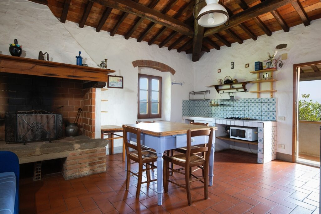Typical stone farmhouse in Greve in Chianti